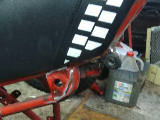Fantic RSX 125 Rahmenheck eingekürzt für Brissoni 1 Mann Sitzbank